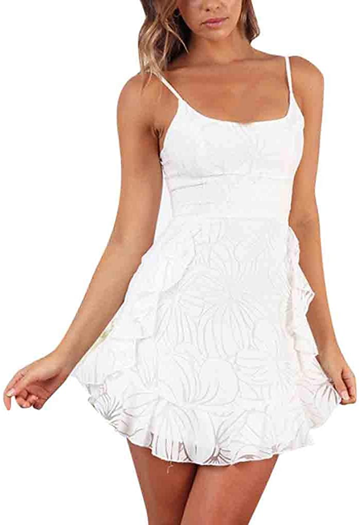 POPL Vestido de Fiesta Cortos para Mujer Falda con Cordones y ...
