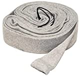 LifeSupplyUSA 35 ft Central Vacuum Knitted Hose Sock Cover with Application Tube