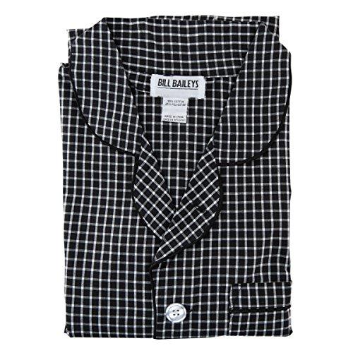 Bill Baileys Sleepwear Men's Broadcloth Woven Pajama Set (Large, Grey (Bailey Mens Clothing)