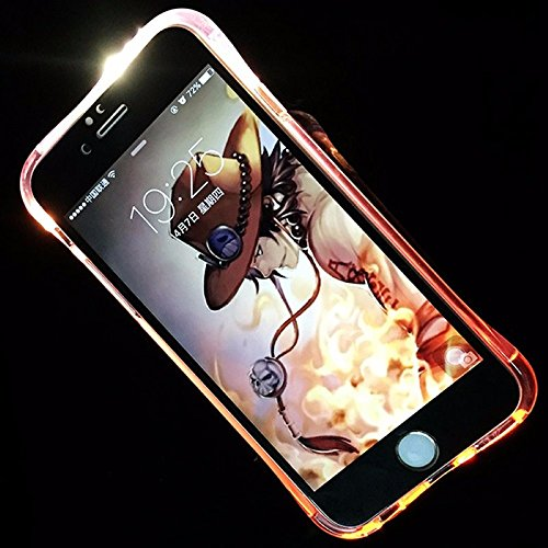 König-Shop Handy Hülle LED Licht bei Anruf für Handy Apple iPhone 6 / 6s Pink - Bumper Case Cover