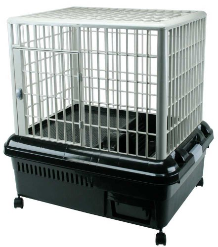 Plastic Rabbit Cage – RP-750 Black/Gray