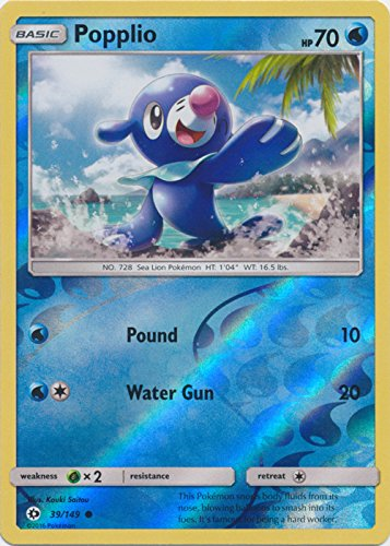 Popplio 39/149  Pokemon TCG Sun & Moon Single Card Verzamelingen Losse kaarten
