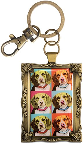 Pavilion Gift Company 12016 Paw Palettes Keychain, 2 by 2-3/4-Inch, Beagle Woofhol ()