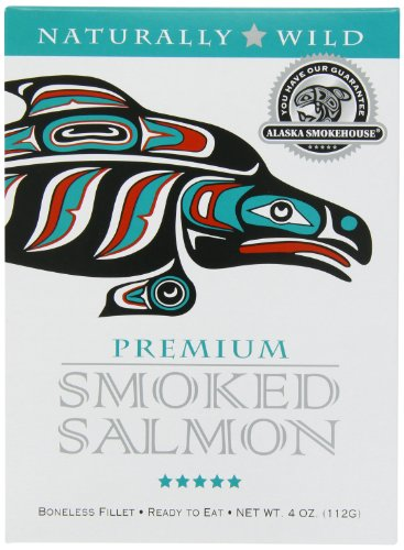 Alaska Smokehouse Salmon (Alaska Smokehouse Premium Smoked Salmon, 4 Ounce Gift box)