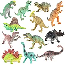 "BOLEY (12 Pack) 9"" Educational Dinosaur Toys - Kids Realistic Toy Dinosaur Figures for Cool Kids and Toddler Education! (T-rex, Triceratops, Velociraptor, etc) Great Gift Set and Party Favors!"