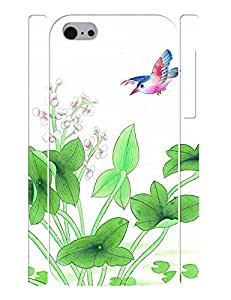 Smooth Flowers and Birds Design Hard Plastic Back Case Cover for Iphone 5C