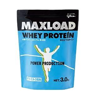 グリコ マックスロードホエイプロテイン ミルク風味 3kg
