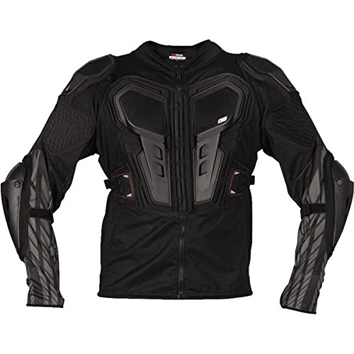 EVS G6 Lite Adult Ballistic Jersey Off-Road/Dirt Bike Motorcycle Body Armor - Black / 3X-Large (Evs Body Armor)
