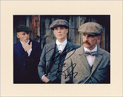 CILLIAN MURPHY PEAKY BLINDERS TOMMY SHELBY SIGNED AUTOGRAPH PRINT IN 10X8 CREAM MOUNT Artomic Autographs