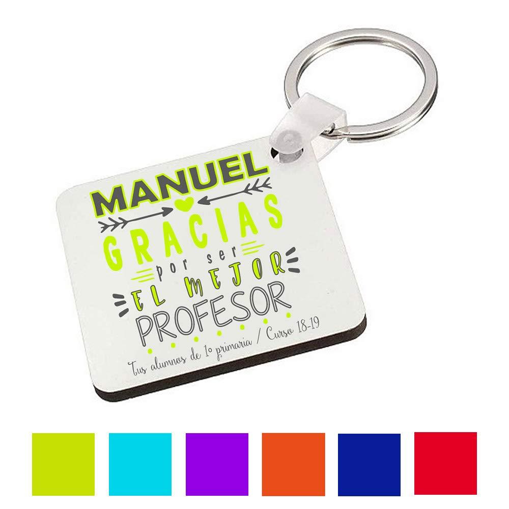 Regalo Original Profesor/Maestro/Llavero con Texto ...