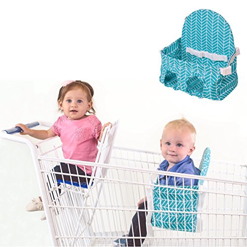Buggy Bench Shopping Cart Seat in Caribbean Blue for Baby, Toddler, and Twins (Up To 40 Pounds)