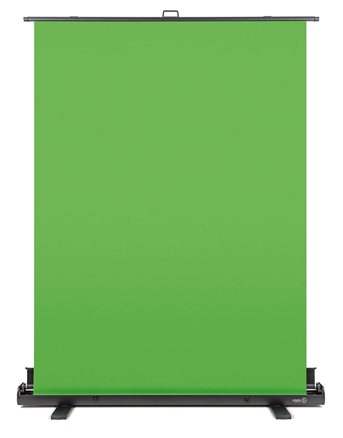 Elgato Green Screen - Collapsible chroma key panel for background removal with auto-locking frame, wrinkle-resistant chroma-green fabric, aluminum hard case, ultra-quick setup and breakdown by Corsair