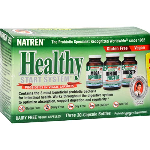 Natren, Healthy Trinity Starter Kit Dairy Free, 30 ()