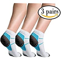3 Pairs Sport Plantar Fasciitis Arch Support Low Cut...