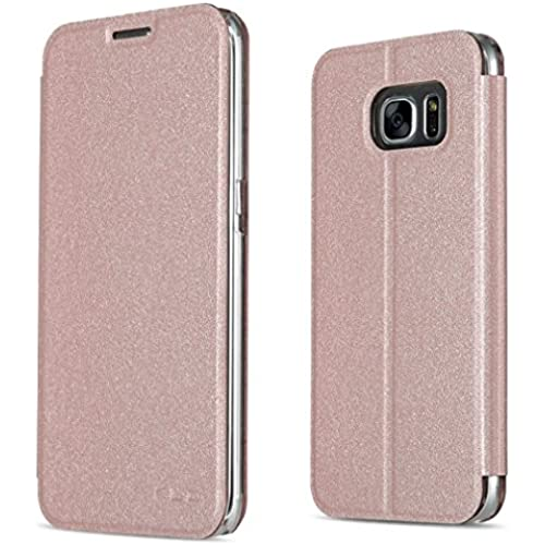 Samsung Galaxy S7 Case, CSTM Slim Flip Shell Case for Samsung Galaxy S7 Smartphone (Slim Book Series-Champagne Sales