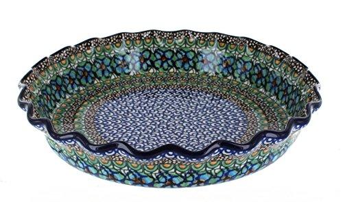Polish Pottery Mardi Gras Pie Plate