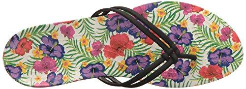 Crocs Isabella Graphic, Sandalias Flip-Flop para Mujer Negro (Black /                                 Floral)