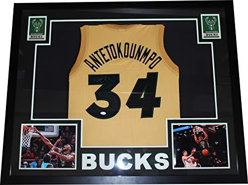67b894c86 Milwaukee Bucks Autographed Jerseys. Authentic Giannis Antetokounmpo  Autographed Signed ...