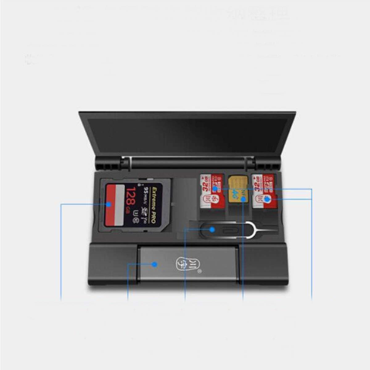 USB-C3.0 High Speed Multi-Function Mobile Phone Card Reader Color : Black Qiyuezhuangshi Card Reader