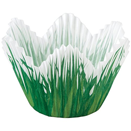 Wilton Petal Grass Shaped Baking Cups, 24-Pack -