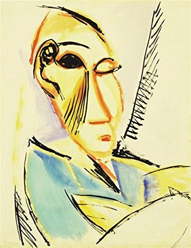 'Pablo Picasso-Head Of The Medical Student,1907' Oil Painting, 30x39 Inch / 76x99 Cm ,printed On Perfect Effect Canvas ,this Vivid Art Decorative Prints On Canvas Is Perfectly Suitalbe For Bedroom Artwork And Home Artwork And Gifts