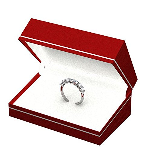 1.00 Carat (ctw) 14K White Gold Round White Diamond Ladies 7 Stone Bridal Wedding Anniversary Ring 1 CT
