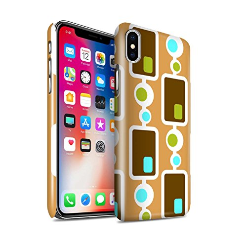 STUFF4 Gloss Hard Back Snap-On Phone Case for Apple iPhone X/10 / Seventies/70s/1970 Design / Decade Pattern Collection - Pattern Plastic Hardback Cover