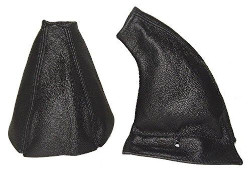 The Tuning-Shop Ltd For Honda Prelude 1992-96 Gear & Handbrake Gaiter Black Italian Leather ()