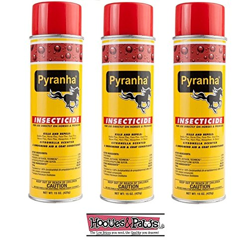 Pyranha Insecticide Aerosol Premise and Horse Fly Spray 15 oz 3 Pack ()