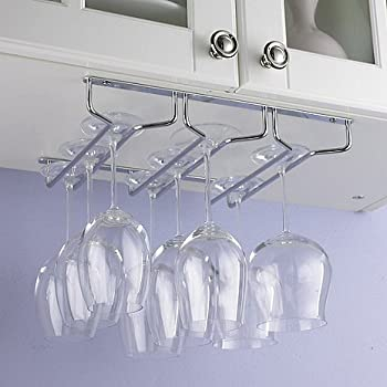 Amazon.com | Oenophilia Under Cabinet Stemware Rack: Wine Glass ...