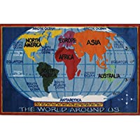 Fun Rugs TSC-161 3147 Kids World Map Accent Rug, 31-Inch by 47-Inch