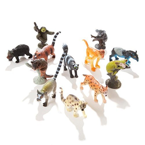 Assorted Rain Forest Animal Figures (36-Pack)