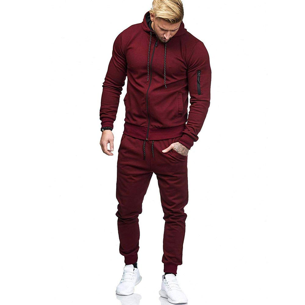 GoodLock Clearance!! Men's Clothes Set Autumn Patchwork Zipper Sweatshirt Top Pants Sets Sports Suit Tracksuit GoodLock_Women blouse