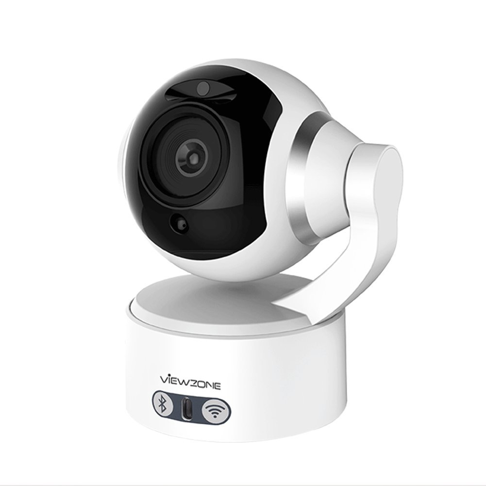 Viewzone 1080P HD Pan/Tilt/Zoom Indoor IP Camera with Bluetooth Speaker, 2.4GHz Wifi Home Security Camera for Baby/Elder/Nanny/Pet Monitor, Night Vision Motion Detection Clear Sound