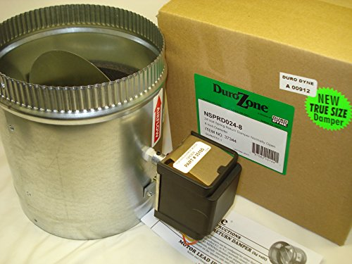 Hvac Zone Dampers (Durozone HVAC Motorized Electric zone control 24ac power damper 6 inch)