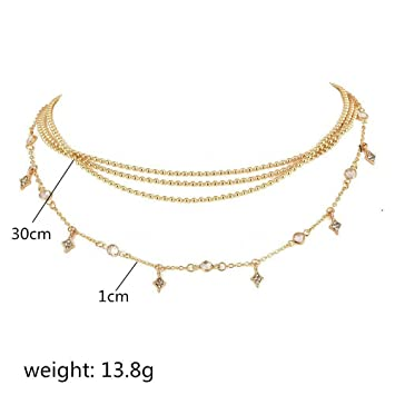 Boho Women Simple Stars Pendants Gold Chain Choker Necklace Fashion Jewelry Gift