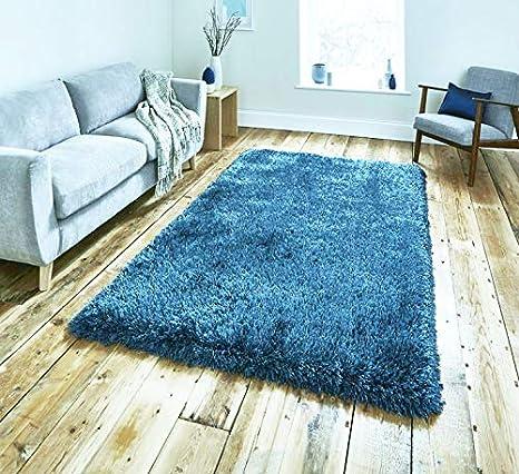 Think Rugs Montana Steel Blue 080 X 150 Amazon Co Uk Kitchen Home