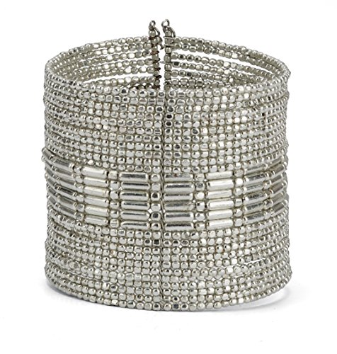 - SPUNKYsoul New! Boho Metal Cuff Bangle Bracelets for Women l Collection (Silver)