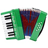 D'Luca G104-GR Kids Piano Accordion 17 Keys 8 Bass, Green