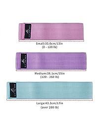 3 bandas de resistencia SKL para la cadera   Piernas y botones para ejercicios de ejercicios con círculo   Activa glúteos y muslos, diseño suave y antideslizante con correa de yoga y bolsa de transporte