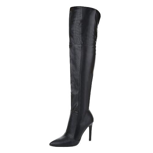 Overknee Stiefel Damenschuhe Klassischer Stiefel Pfennig-/Stilettoabsatz High Heels Reißverschluss I...