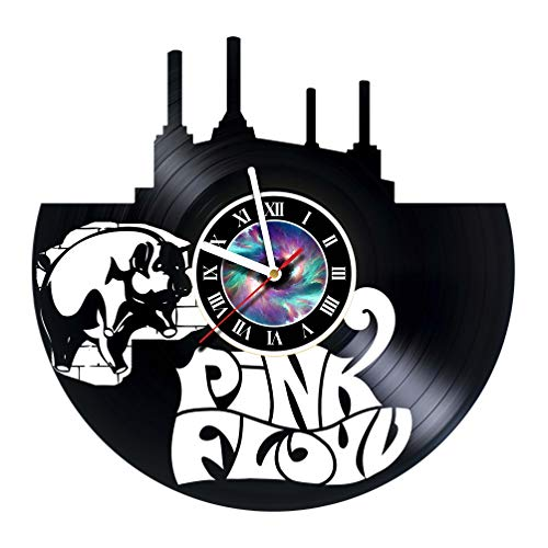 KravchArt Pink Floyd - Vinyl Record Wall Clock - Unique Gifts for him her - Gift Ideas for Mothers Day Father Birthday Anniversary Wedding Cute and Original Gifts for Everybody -