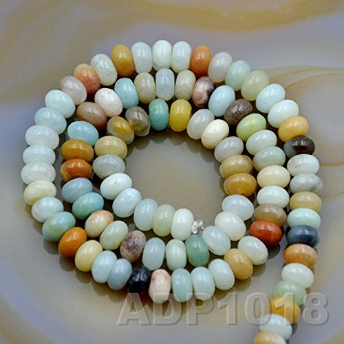 AD Beads 4x6mm & 5x8mm Natural Gemstone Rondelle Spacer Loose Beads Strand 15.5