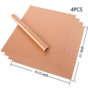 4Pcs Non-stick Reusable Oven Liners for The Bottom of Gas, Electric & Microwave Ovens-Works as Baking Mat & Grill Mat