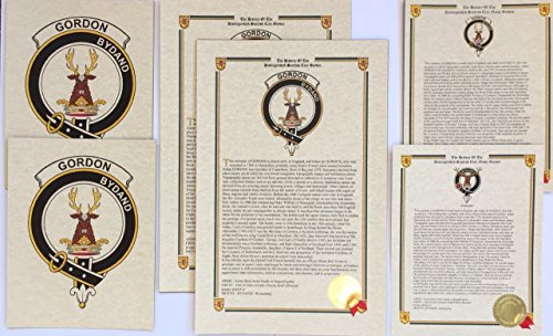 - Thompson of Clan MacThomas - Scottish Last Name History and Clan Crest Print Set (2 Pack)