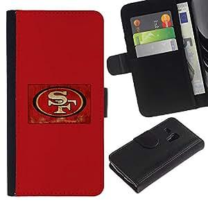 SF - la tarjeta de Crédito Slots PU Funda de cuero Monedero caso cubierta de piel ParaSamsung Galaxy S3 MINI i8190 (NOT S3)