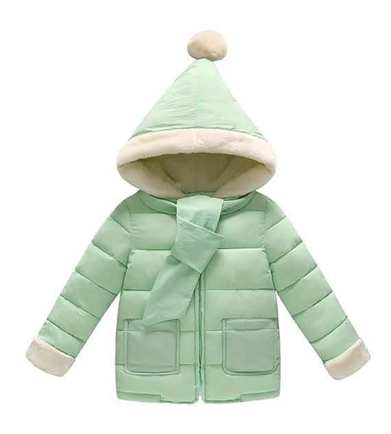 Bebé Invierno Abrigo con Capucha de Pluma Capa Abrigo Grueso Ropa de Abrigo para Niños Niñas Verde 130: Amazon.es: Ropa y accesorios