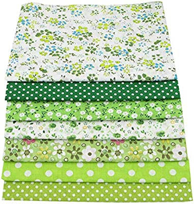 7piezas 49 cm * 49 cm verde 100% algodón Patchwork de ...