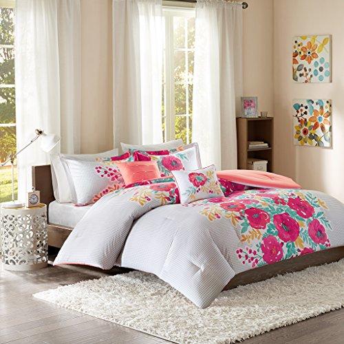 Elodie Comforter Set Coral Full/Queen