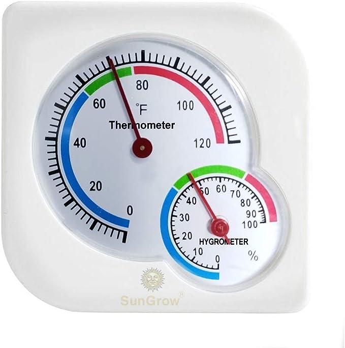 Kacniohen Sala de term/ómetro higr/ómetro Mini Medidor de Humedad Medidor Digital de Cubierta de Invernadero Oficina del beb/é Coches Home Office 5PCS